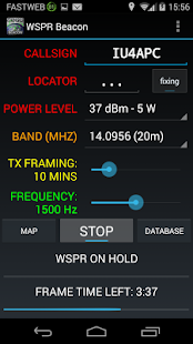 WSPR Beacon for Ham Radio- screenshot thumbnail