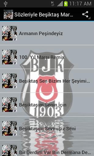 Sözleriyle Beşiktaş Marşları