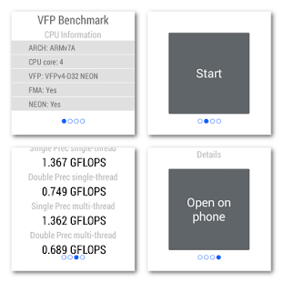 VFP Benchmark for Android Wear- スクリーンショットのサムネイル