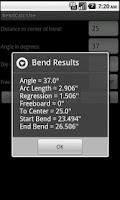 Screenshot of BendCalc Lite