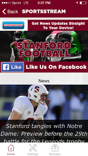【免費運動App】Stanford Football STREAM-APP點子
