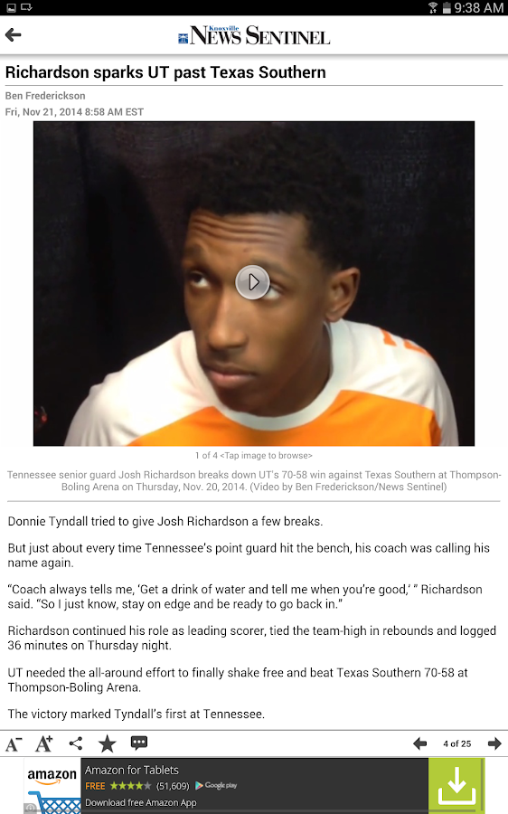 Knoxville News Sentinel - screenshot