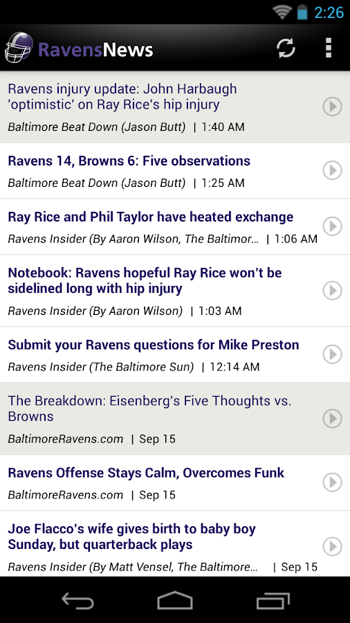 Ravens News - screenshot
