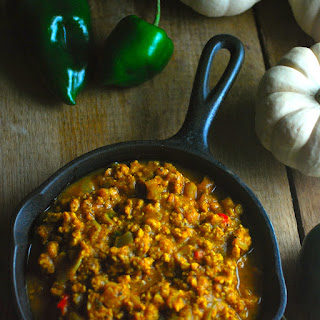 Pumpkin Poblano Turkey Chili