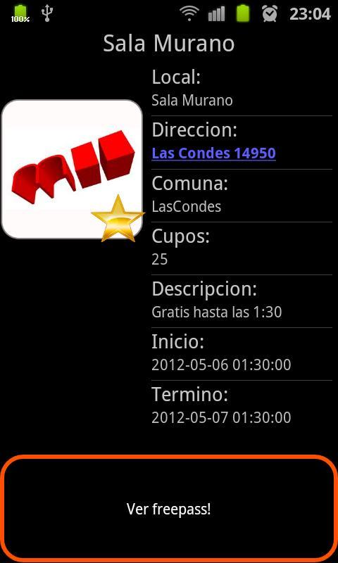 NocheLibre - screenshot