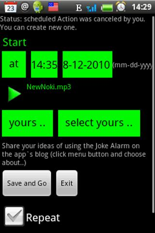Joke Alarm  lite - screenshot