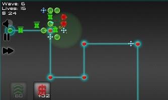 Screenshot of Robot Defense: Maze it!