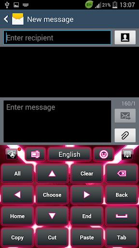 玩個人化App|GO输入法粉色霓虹灯免費|APP試玩