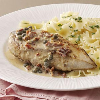 Chicken with Garlic-Caper Sauce