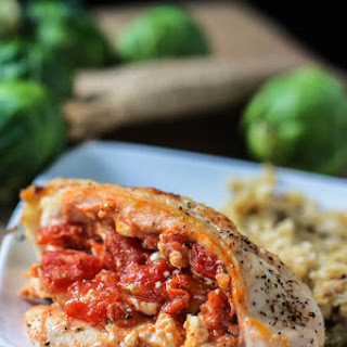 Tomato and Feta Stuffed Chicken Breasts.