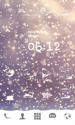 Snow Blossom Dodol Theme
