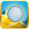 Deserto del fumetto mini golf icon