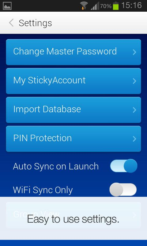 Sticky Password Manager & Safe - screenshot