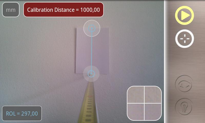 LaserDistanceMeter smart meter - screenshot