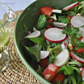 White-Wine-Parsley Vinaigrette.
