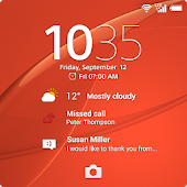 Xperia™ wallpaper: Orange