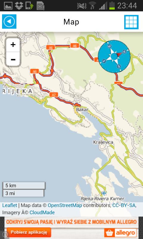 offline karte kroatien kleve landkarte. Black Bedroom Furniture Sets. Home Design Ideas