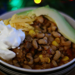 Black Eyed Pea Chili in the Slow Cooker