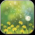 Dandelions field icon