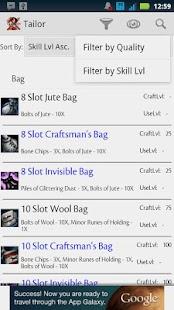Guild Wars 2: Crafting DB Free - screenshot thumbnail