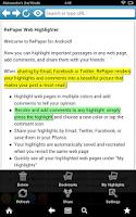 Screenshot of RePaper Web Highlighter