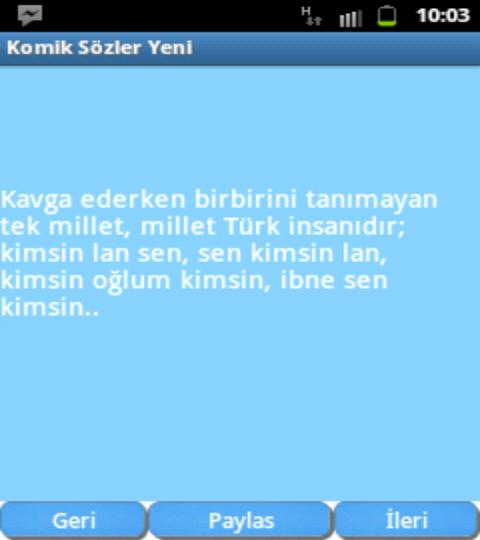 Komik Sözler - screenshot