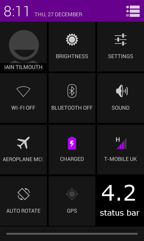 TESLA PURPLE CM / AOKP THEME- screenshot