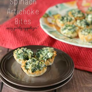 Easy Spinach Artichoke Phyllo Bites.