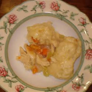 Quick and Super Easy Chicken and Dumplings.