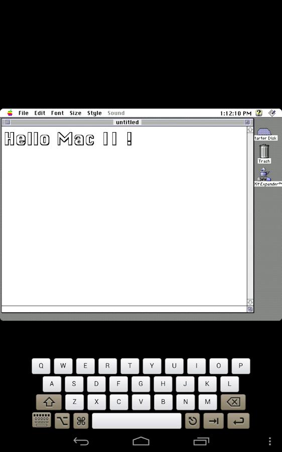 Mini vMac II- screenshot