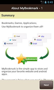 MyBookmarks - screenshot thumbnail