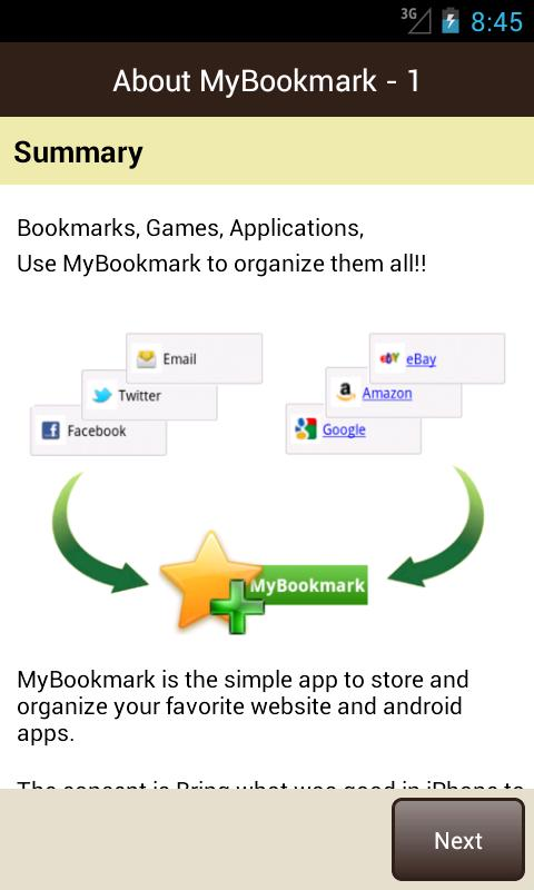 MyBookmarks - screenshot