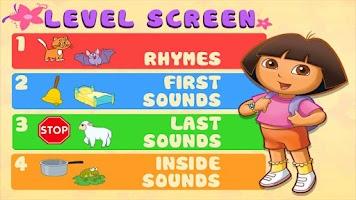 Screenshot of Dora ABCs Vol 2: Rhyming