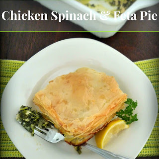 Chicken Spinach & Feta Pie.