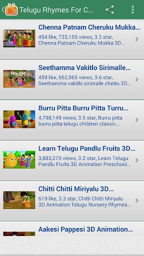 Telugu Rhymes for Childrens