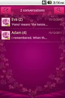 Screenshot of Easy SMS Valentine'sDay theme