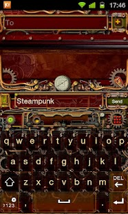 Steampunk GO Keyboard Theme- screenshot thumbnail