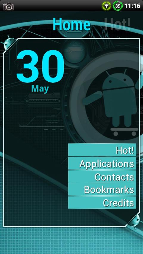Cyanogen Theme for ssLauncher- screenshot