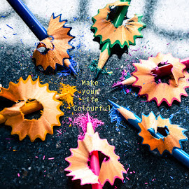 Is your life filled with colours? by Jitaditya Ghosh - Typography Captioned Photos (  )