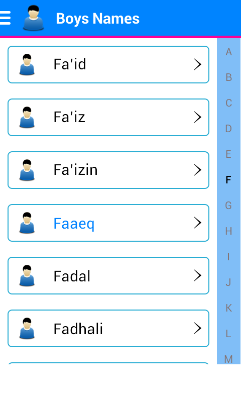 Indo Islamic Names & Meaning- screenshot