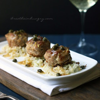 Chicken Piccata Meatballs – Low Carb and Gluten Free