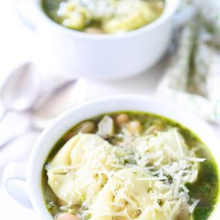 Spinach Artichoke Pesto Tortellini Soup