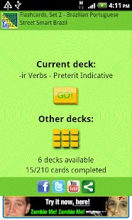 Flashcards - Portuguese, Set 2- screenshot thumbnail