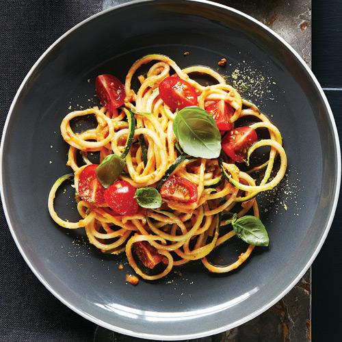 Zucchini Noodles with Cherry Tomato Marinara Recipe