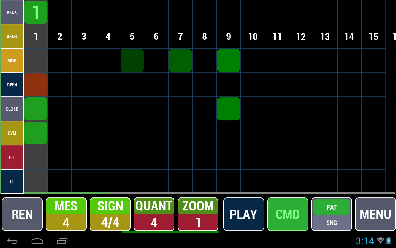 Cadeli Drum Machine - screenshot