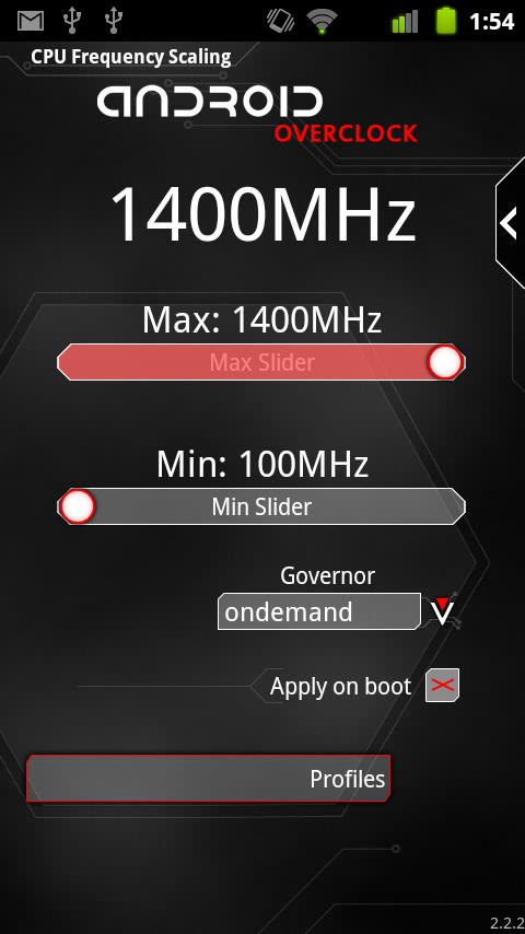 Overclock for Android- screenshot