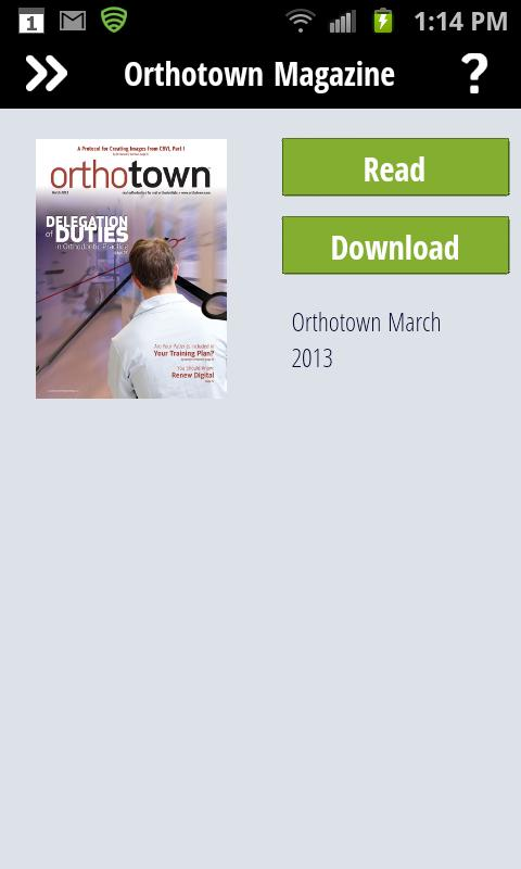 Orthotown Magazine- screenshot