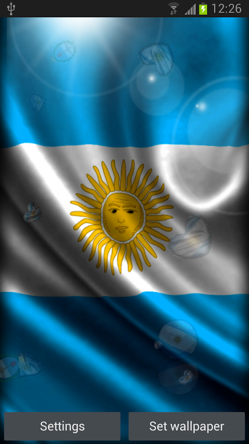 Argentina Live Wallpaper - screenshot