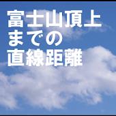 富士山頂上までの直線距離