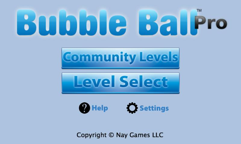 Bubble Ball Pro - screenshot